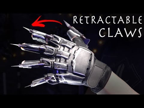 How To Make RETRACTABLE BLACK PANTHER CLAWS $15 Build
