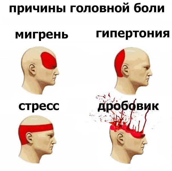 Резкая боль в левой части головы