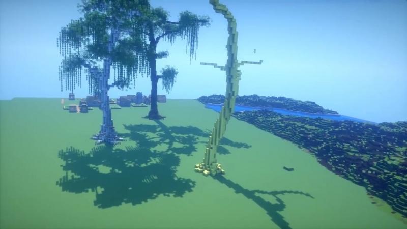 Детализированный MineCraft биом