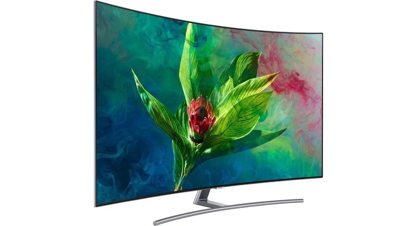 """Телевизор Samsung QLED QE65 Q8C с изогнутым 4K-экраном 65"""" на квантовых точках"""