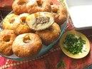 Беляши Жареные открытые пироги с мясом
