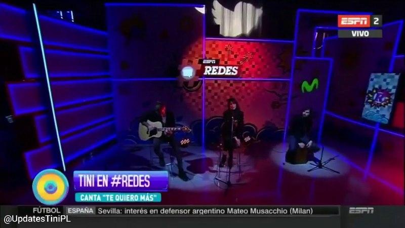 TINI - Te Quiero Mas (Acustico) - ESPN Redes
