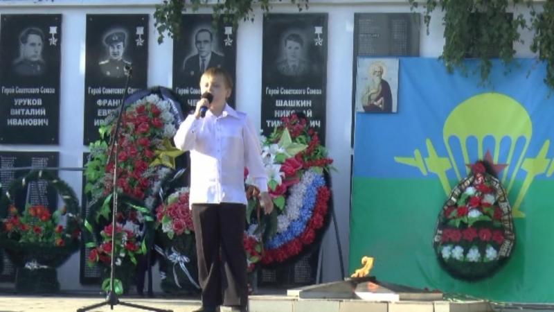 .Александр Сливницын в день ВДВ.Шумерля.2018 г.