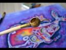 Панно в технике Горячий батик