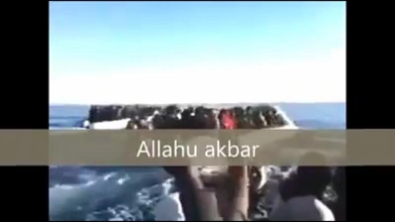 Refugiados gritamAllahu akbar a Europa é nossa Was soll man dazu noch schreiben