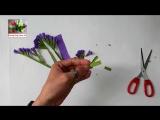 DIY Craft tutorial How to make paper flower - Statice flower - by crepe paper - Hoa salem gi