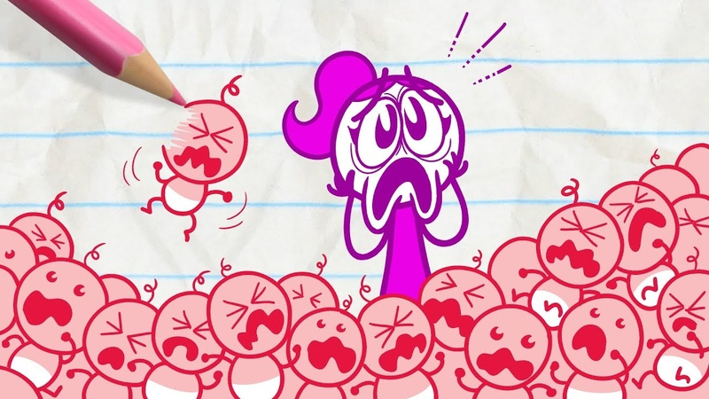 Pencilmate Has Some Strange Homework -in- MATHTERPIECE THEATRE - Pencilmation Cartoons for Kids