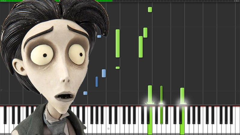 Victor's Piano Solo - Corpse Bride [Piano Tutorial] (Synthesia) The Wild Conductor
