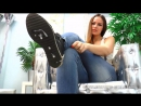 SPITTING GIRL SHOES POV HD