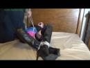 Balltied in high heel boots