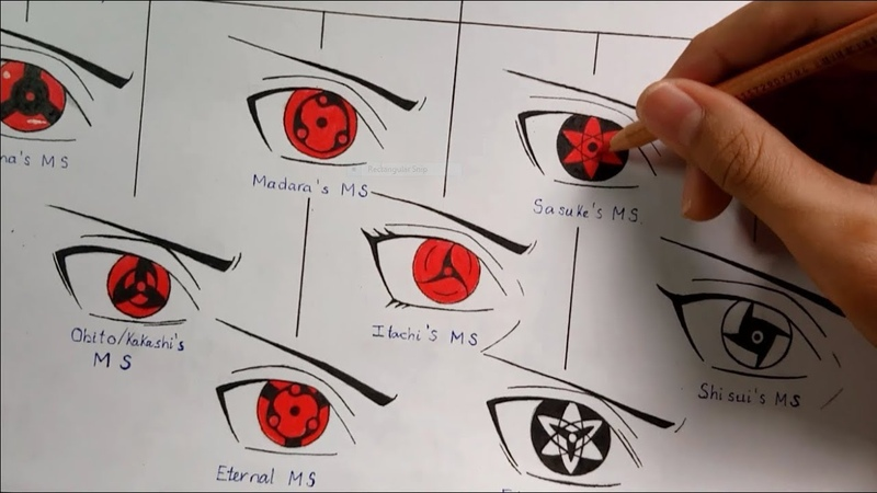 Drawing All Mangekyou Sharingan Forms | Evolution Of Sharingan | Kakashi Art