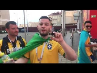 Болельщик сборной Бразилии приехал в Сочи и дал интервью на русском!