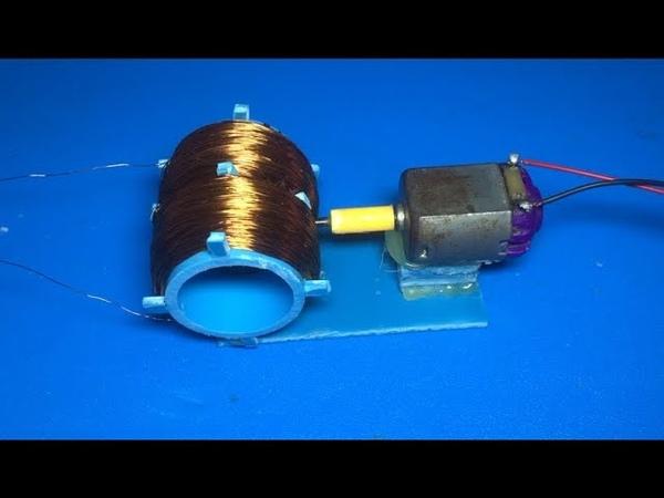 12V Hand crank , 60V generator , Free energy generator 2018 , science school project