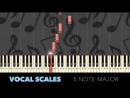 ♬ VOCAL WARM UPS 2 -- Vocal Exercises -- MAJOR SCALES - By Soulphonic ♬