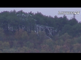 Алушта. Крым. Упавшая опора ЛЭП. 01 ноября 207