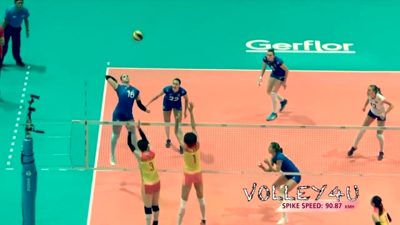 Top 10 POWERFUL Volleyball Attacks 90km_h-100km_h!