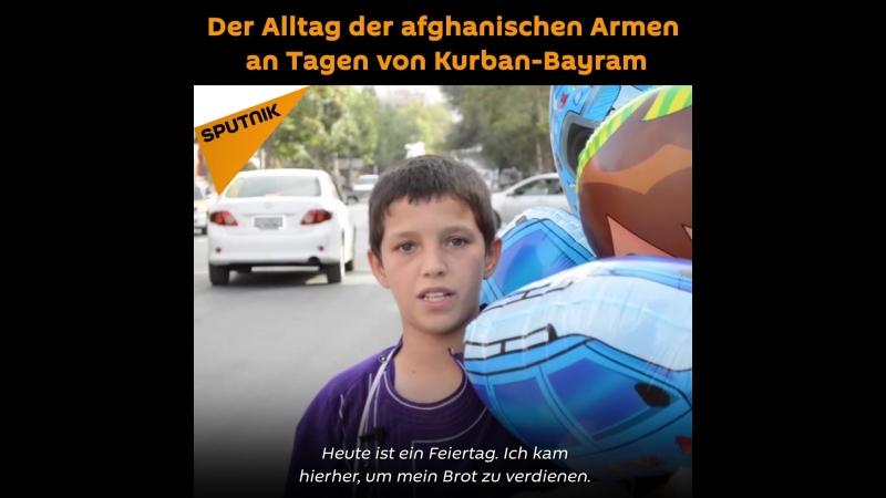 Der Alltag der afghanischen Armen an Tagen von Kurban-Bayram