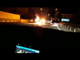В Сочи сгорел автомобиль. ДТП, Дагомыс. 02.12.17