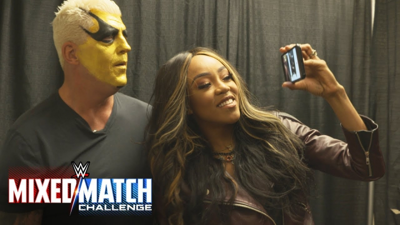 [WWE QTV]☆[Alicia Fox surprises Goldust with the news of their pairing in WWE Mixed Match Challenge]
