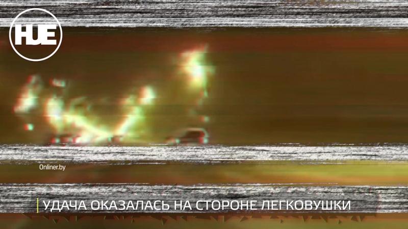 На МКАД водитель чудом избежал серьезной аварии