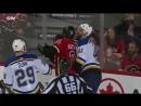 Tarasenkos late shot sparks Blues vs Flames brawl