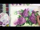 5 Сирень и бабочка, как нарисовать 🎨АКВАРЕЛЬ! ДЕМО Мастер-класс
