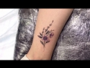 Тату мастер Катя Маслова girls small colored tattoo flowers Тату студия Дом Элит Тату Tattoo Studio Moscow