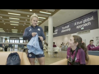 Meet our wonderful young fan, Ella! ️ - - She went behind-the-scenes at mancity with tour guide IzzyChr17! - - FULL VIDEO