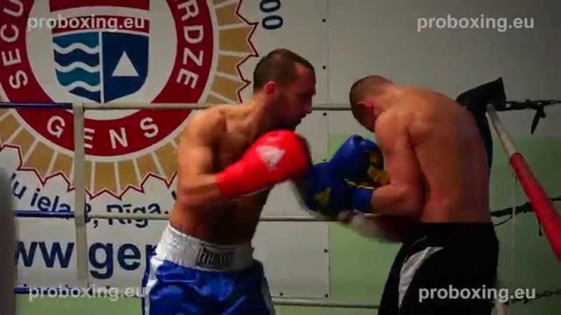 Olegs Vilcans (Latvia) VS Dmitrijs Gutmans (Latvia) 15.11.2014 proboxing.eu