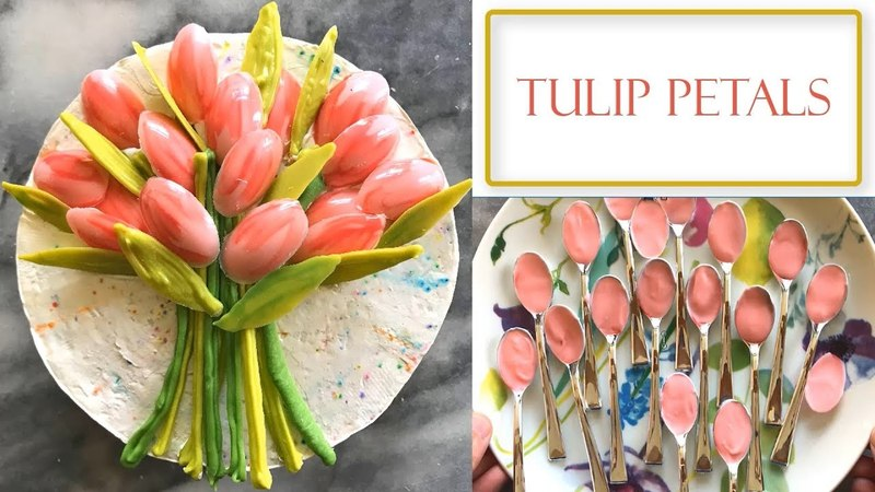 Lakomkavk How to Make Chocolate Tulip Decorations Simple and Easy