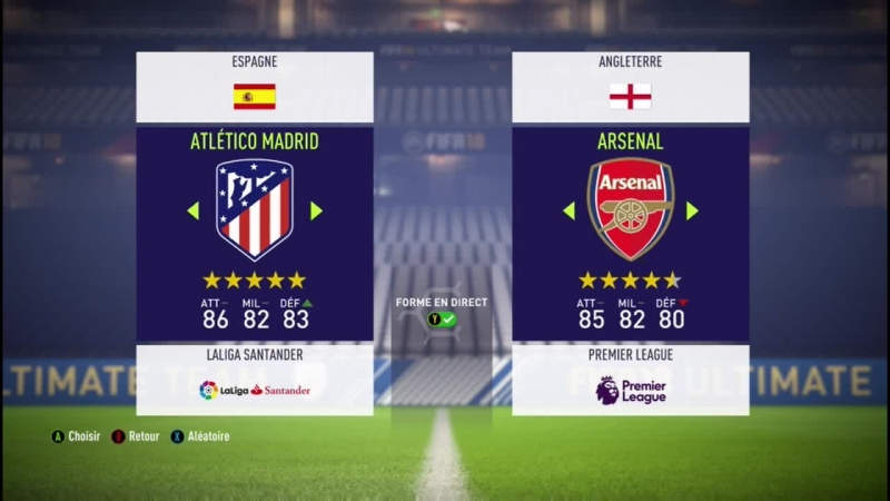 Atletico Madrid VS Arsenal LIVE Match Fifa 18 Je joue avec mon neveu en LIVE