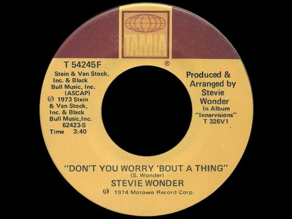 Stevie Wonder ~ Don't You Worry Bout A Thing 1974 Disco Purrfection Version