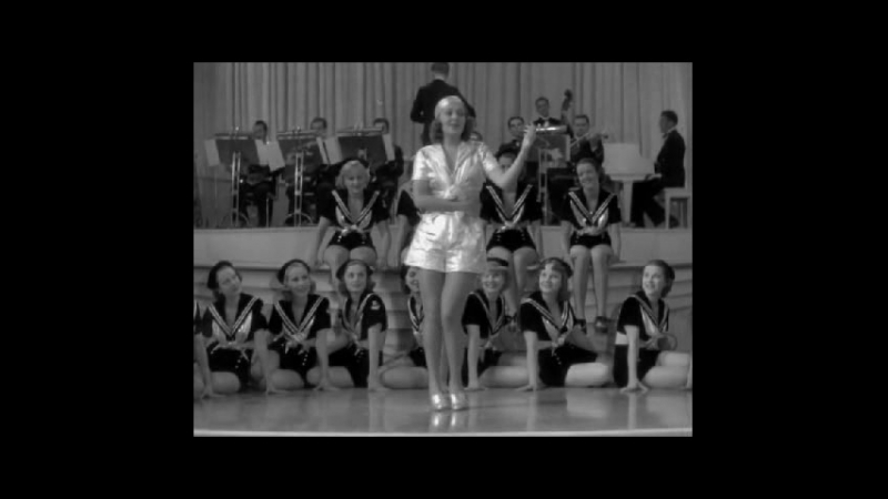 Ruby Keeler and the Chorus in a Tap Dance Routine