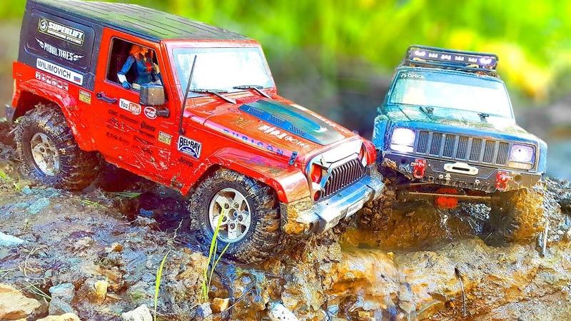 RC Cars OFF Road – Jeep vs Jeep – Cherokee vs Rubicon – Axial SCX10 II vs MST CFX — wilimovich