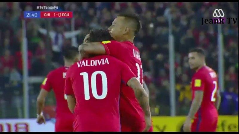 CHILE 2 vs ECUADOR 1 | Eliminatorias Rusia 2018