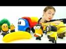 Миньоны и Грузовичок Лева! Развивающее видео! Лева летит в Африку за бананами МашинкаЛева!