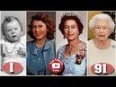Queen Elizabeth Transformation From 1 to 91 Years Old