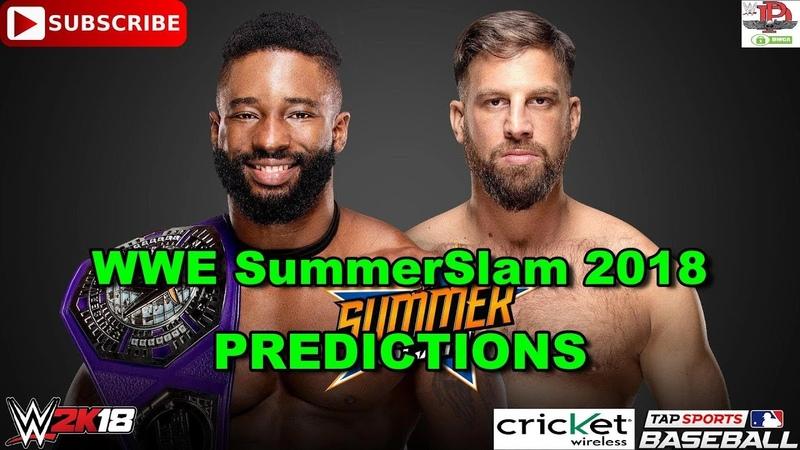 WWE SummerSlam 2018 Cruiserweight Championship Cedric Alexander vs. Drew Gulak Predictions WWE 2K18