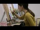 Акварельная живопись с нуля. Веточка шиповника акварелью