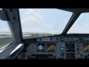 Take-off airbus a319 MRBUS Private plane