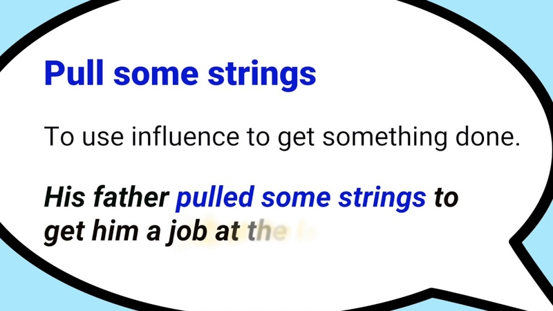 Pull some strings