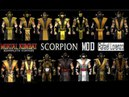 Mortal Kombat ALL SCORPION MK Costume Skin PC Mod MK9 Komplete Edition MKKE HD