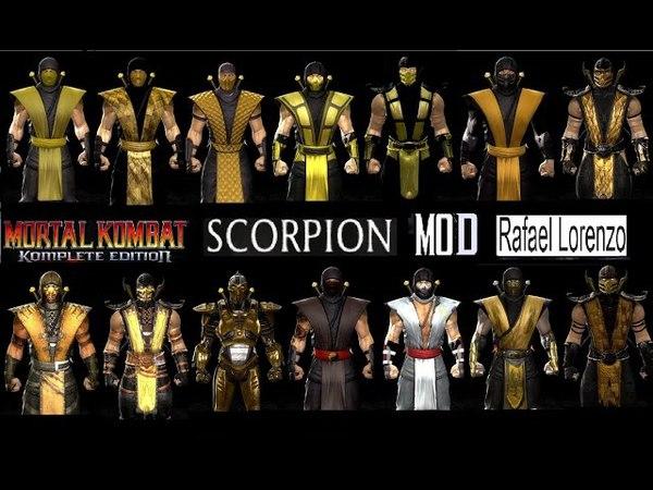 Mortal Kombat ALL SCORPION MK Costume Skin PC Mod MK9 Komplete Edition MKKE HD
