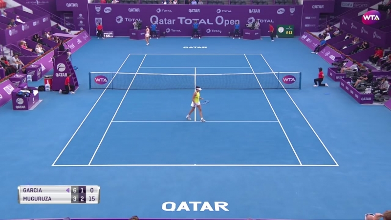 Теннис WTA Доха Хард Гарсия Каролин Мугуруса Гарбинье 1 2 6 3 1 6 4 6