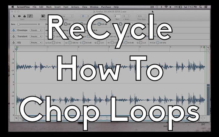 Propellerheads ReCycle 101 - How To Chop Loops