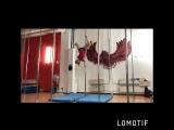 Хвост дракона->вис->шпагат->флаг