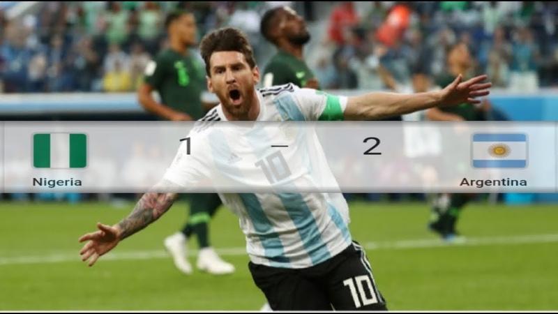 NIGERIA VS ARGENTINA 1 - 2 ● HIGHTLIGHT ● PIALA DUNIA ● 27.06.2018