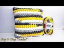 How To Crochet - PILLOW CASE The Banana Bobble Throw Pillow Crochet Tutorial 500