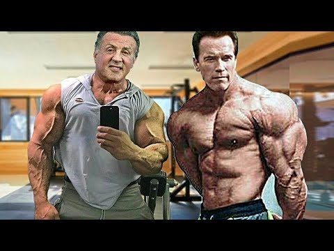 Sylvester Stallone Arnold Schwarzenegger 2018 Workout At 71 Years Old Motivation