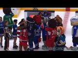 Маскоты на льду Матч звёзд КХЛ 2018.